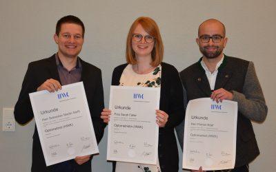 Nosch-Mitarbeiter absolvieren erfolgreich Prüfung zu Optometristen