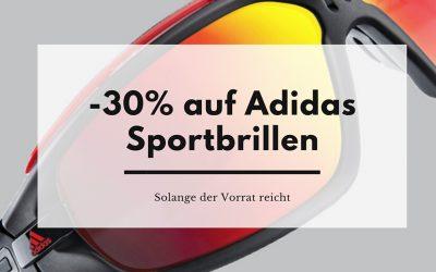 Aktion: -30% auf alle Adidas Sportbrillen