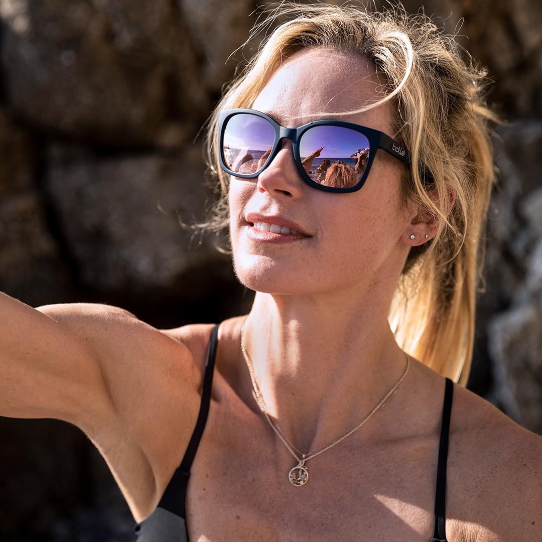 Um Sie beim Sonnen vor Licht und UV-Strahlen zu schützen greifen Sie zur Sport-Sonnenbrille.