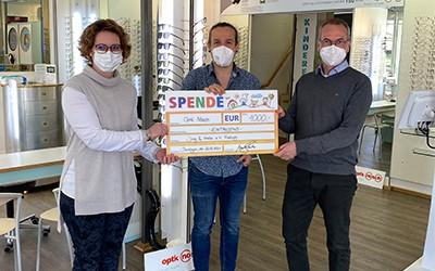 Spende für Krebskranke